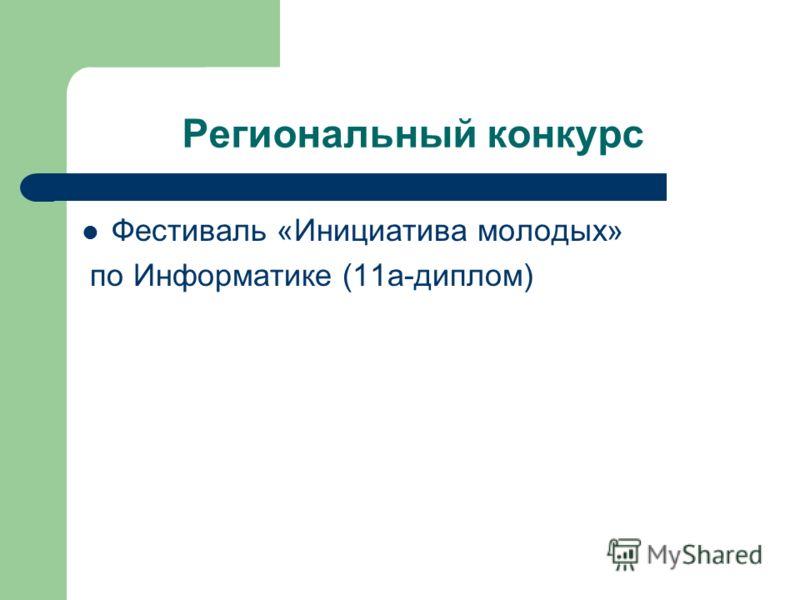 Региональный конкурс Фестиваль «Инициатива молодых» по Информатике (11а-диплом)