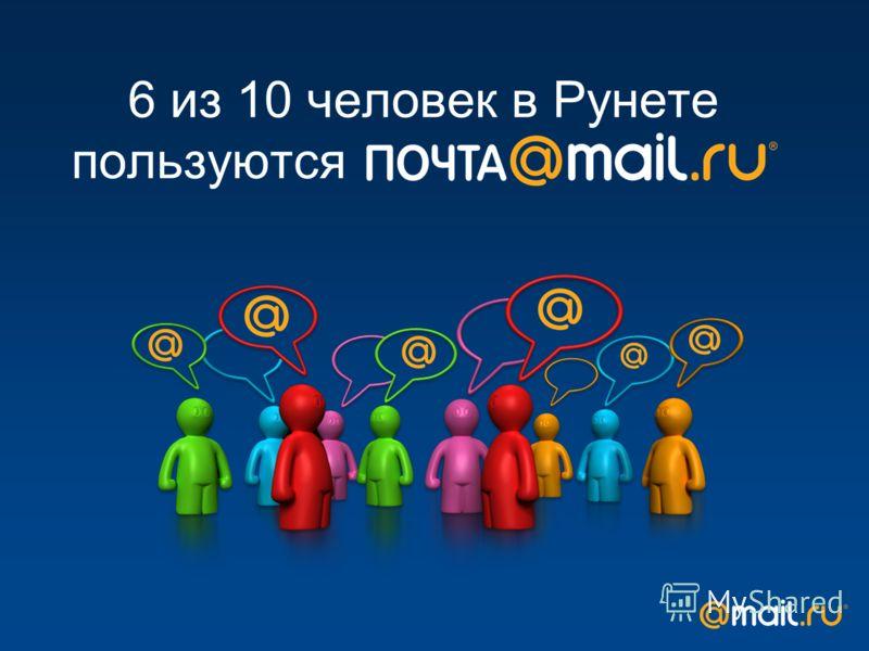 6 из 10 человек в Рунете пользуются