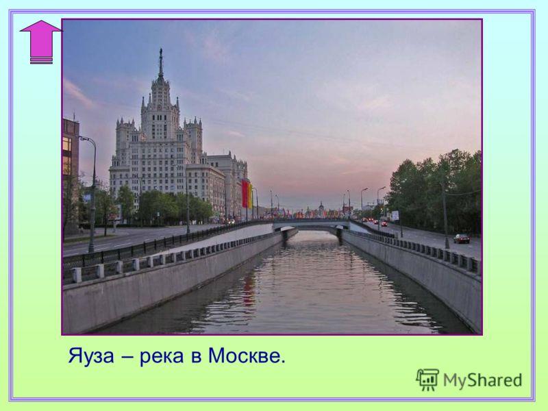 Яуза – река в Москве.