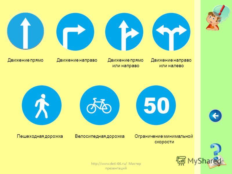 http://www.deti-66.ru/ Мастер презентаций - Имеют круглую форму и синий фон. -предписывают участникам дорожного движения определённые действия.