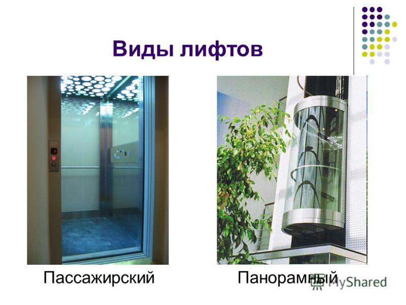 Виды лифтов ПассажирскийПанорамный