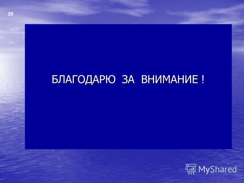 БЛАГОДАРЮ ЗА ВНИМАНИЕ ! 20