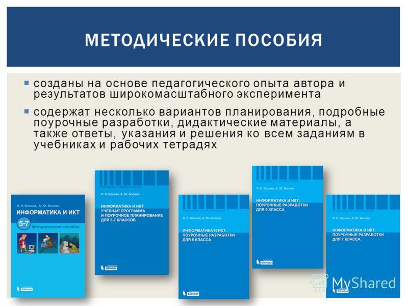 созданы на основе педагогического опыта автора и результатов широкомасштабного эксперимента содержат несколько вариантов планирования, подробные поурочные разработки, дидактические материалы, а также ответы, указания и решения ко всем заданиям в учеб