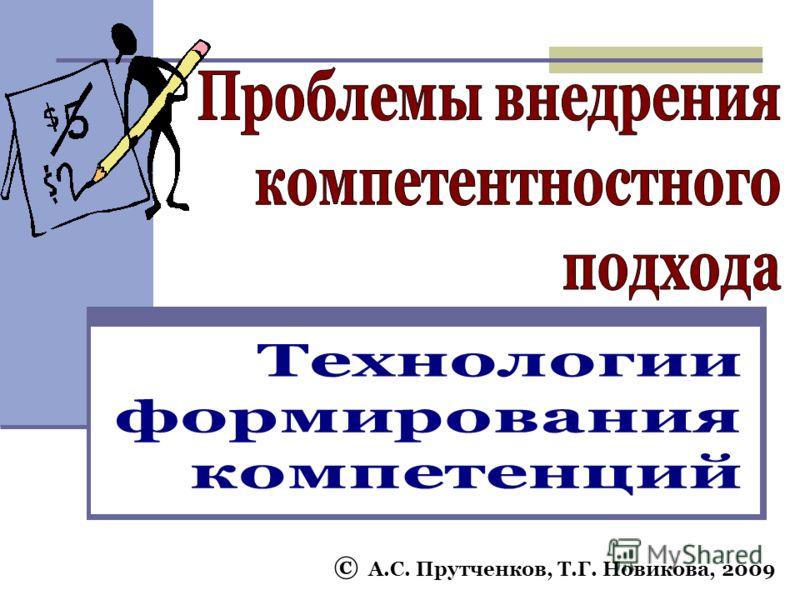 © А.С. Прутченков, Т.Г. Новикова, 2009