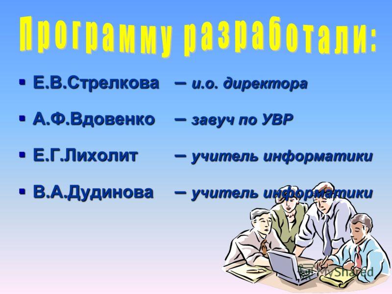 Программа информатизации МОУ «СОШ 11» п. Рыздвяного Изобильненского района Ставропольского края