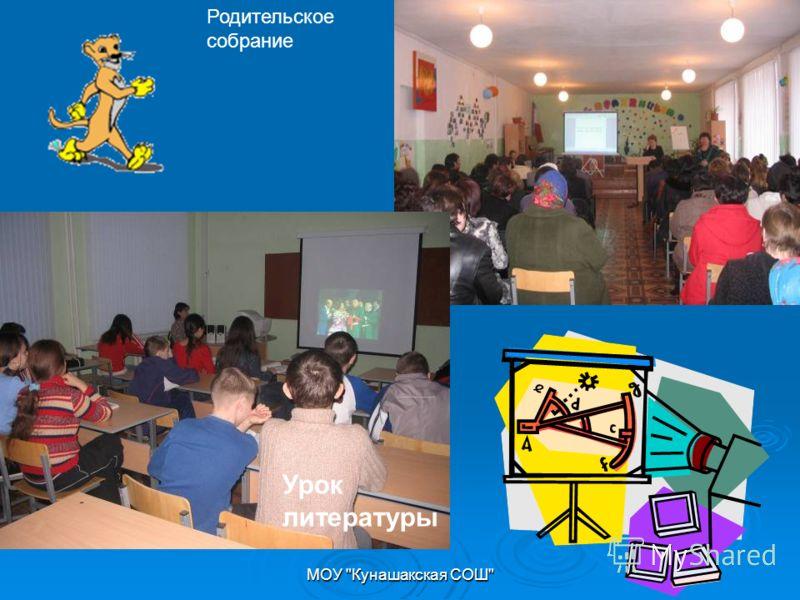 МОУ Кунашакская СОШ Урок литературы Родительское собрание