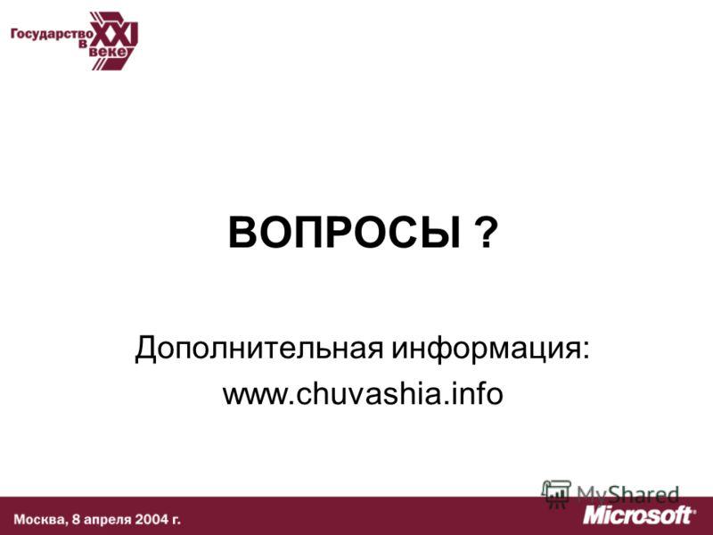 ВОПРОСЫ ? Дополнительная информация: www.chuvashia.info