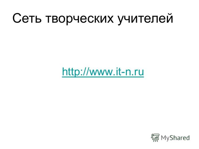 http://www.it-n.ru Сеть творческих учителей