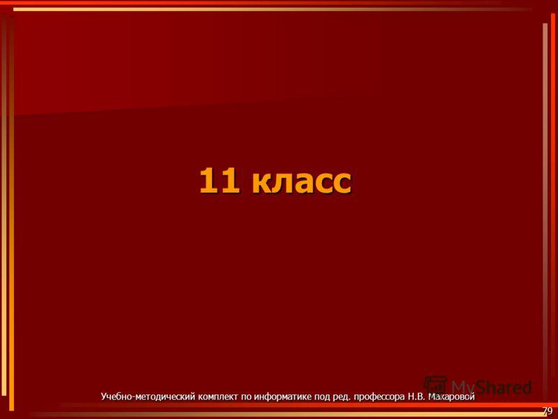11 класс 79 Учебно-методический комплект по информатике под ред. профессора Н.В. Макаровой