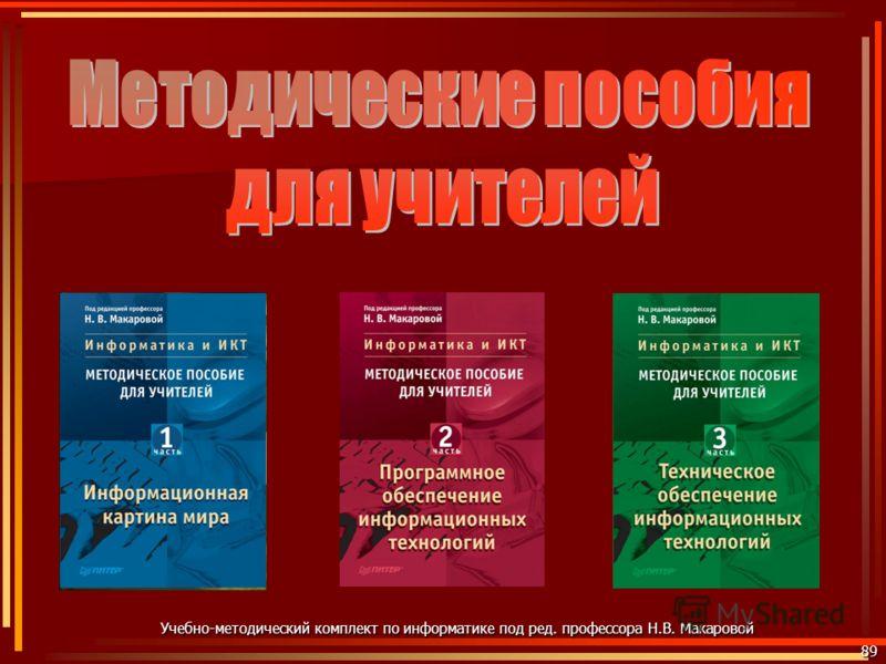 89 Учебно-методический комплект по информатике под ред. профессора Н.В. Макаровой