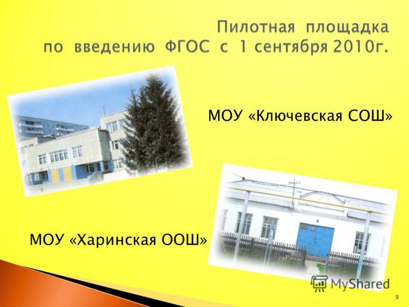 МОУ «Ключевская СОШ» МОУ «Харинская ООШ» 9