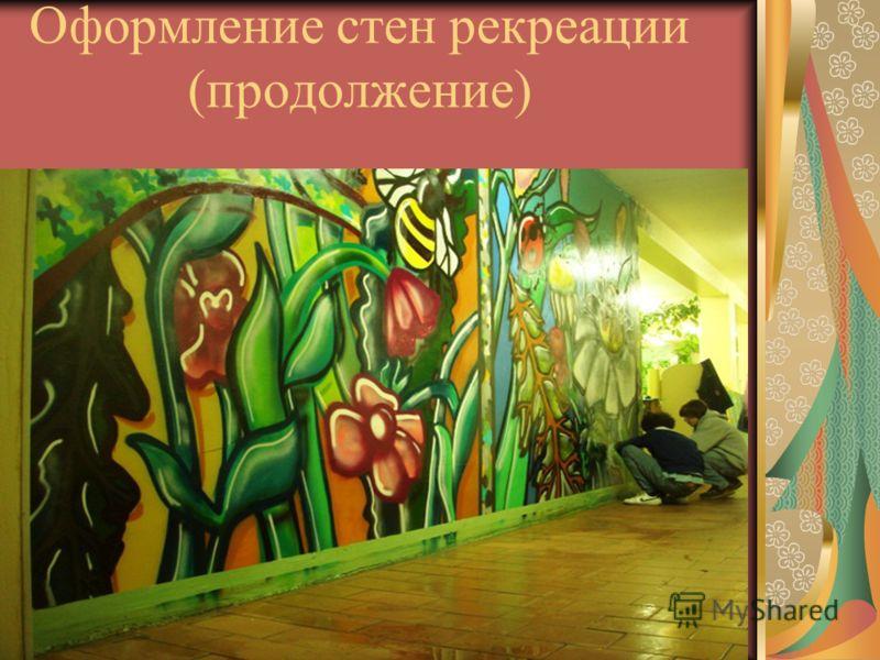 Оформление стен рекреации (продолжение)