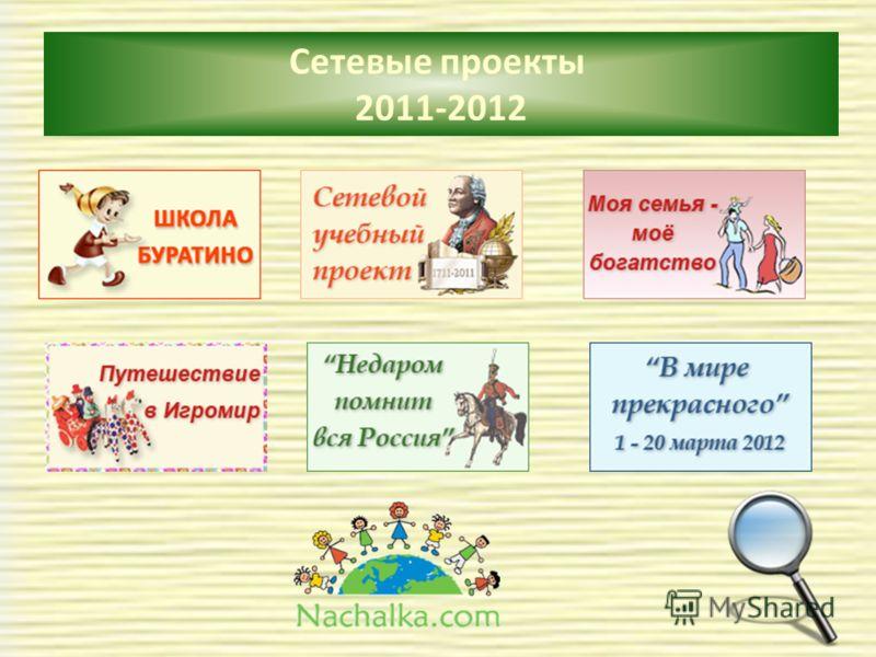 Сетевые проекты 2011-2012