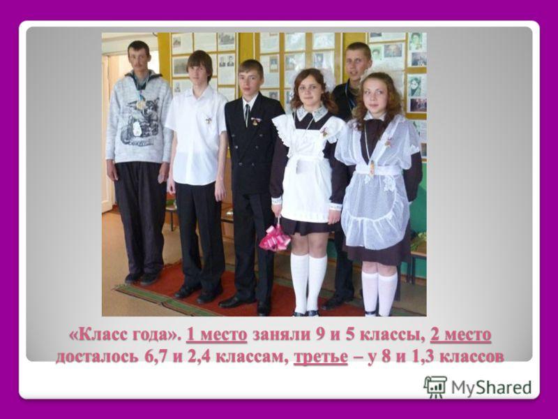 «Класс года». 1 место заняли 9 и 5 классы, 2 место досталось 6,7 и 2,4 классам, третье – у 8 и 1,3 классов