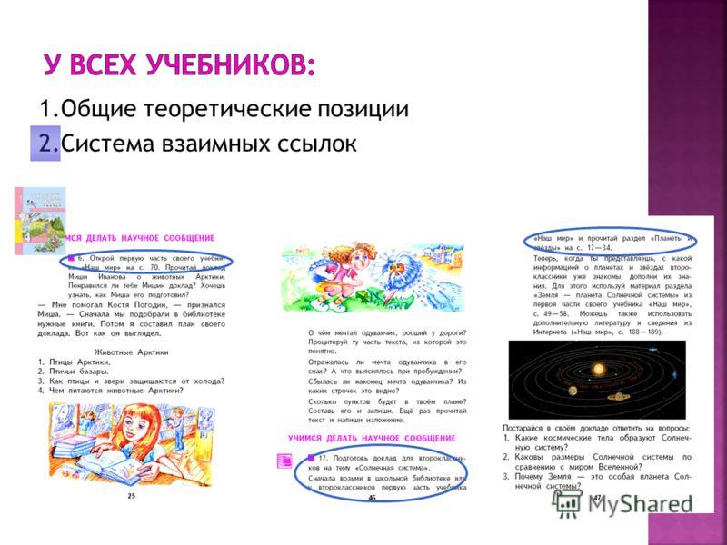 1.Общие теоретические позиции 2.Система взаимных ссылок