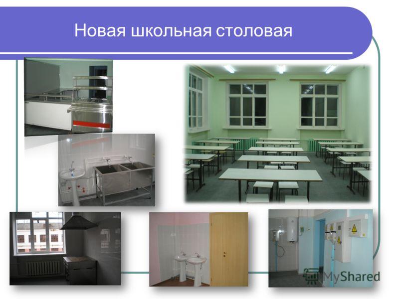 Новая школьная столовая