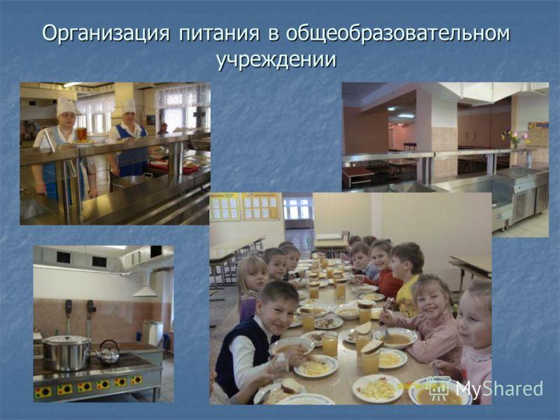 Организация питания в общеобразовательном учреждении