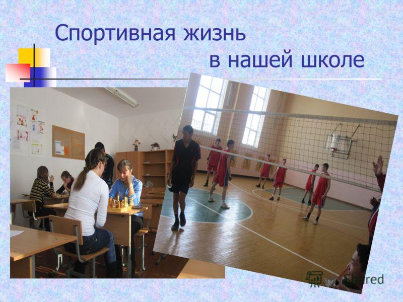 Спортивная жизнь в нашей школе