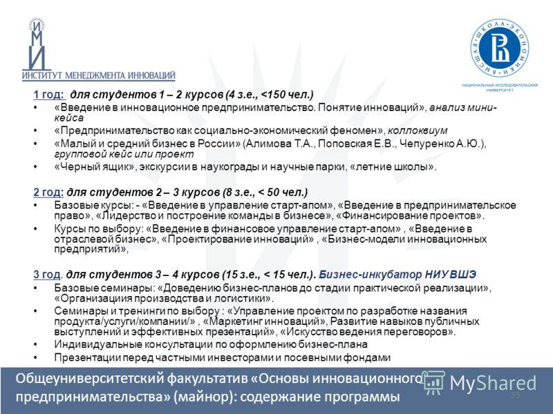 33 1 год: для студентов 1 – 2 курсов (4 з.е.,