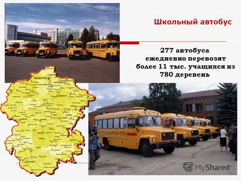 23 Школьный автобус 277 автобуса ежедневно перевозят более 11 тыс. учащихся из 780 деревень