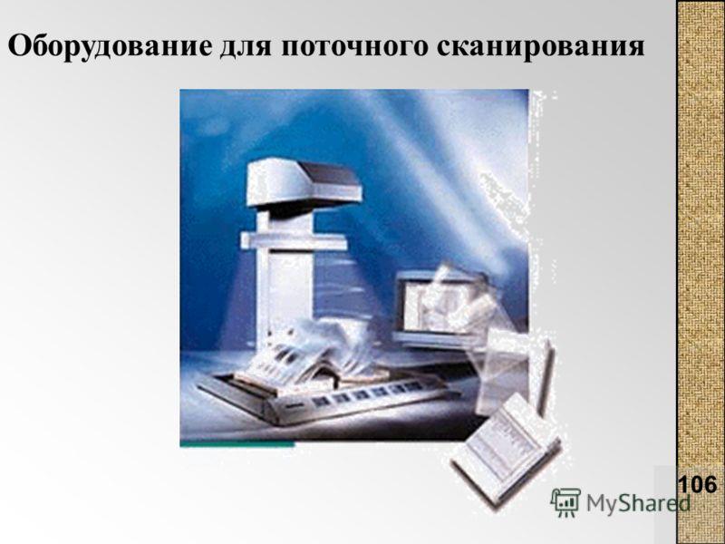 106 Оборудование для поточного сканирования
