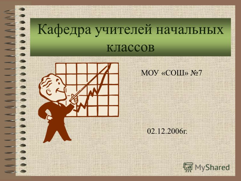 Кафедра учителей начальных классов МОУ «СОШ» 7 02.12.2006г.