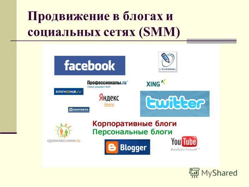 Продвижение в блогах и социальных сетях (SMM)