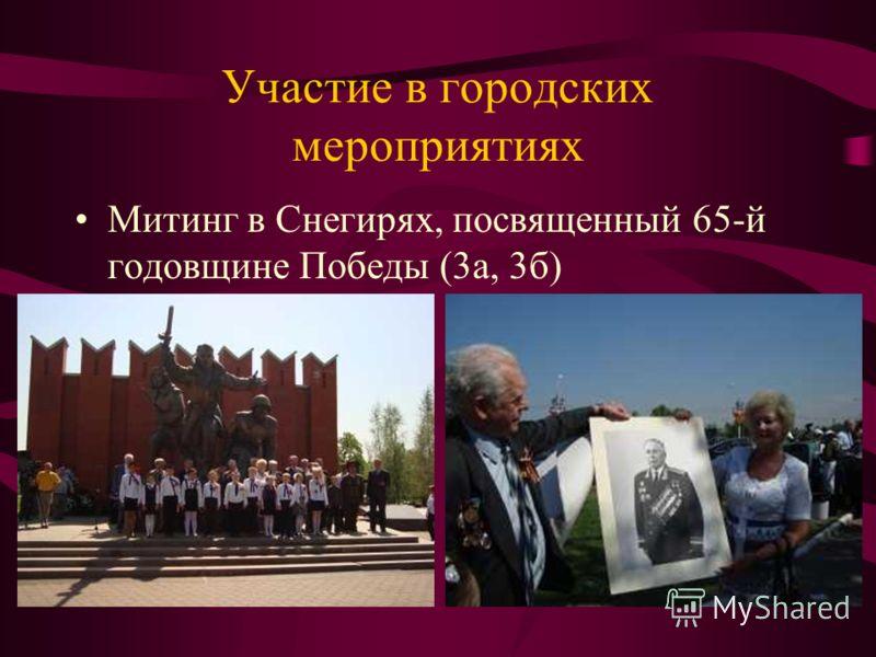Участие в городских мероприятиях Митинг в Снегирях, посвященный 65-й годовщине Победы (3а, 3б)