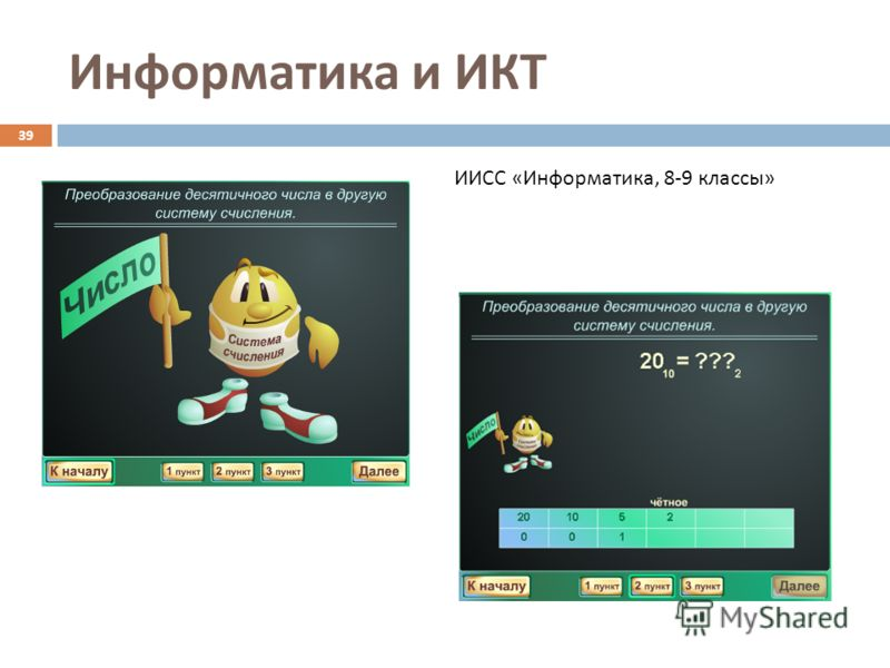 Информатика и ИКТ 39 ИИСС «Информатика, 8-9 классы»