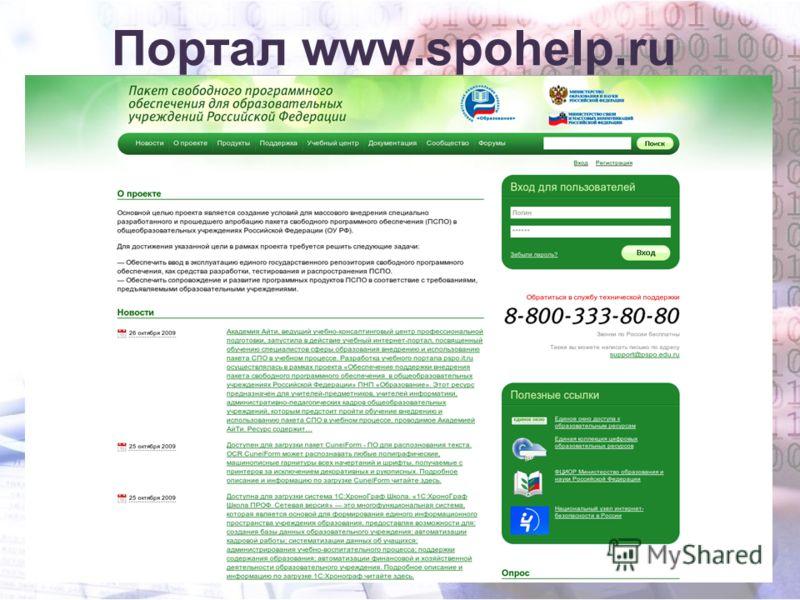 Портал www.spohelp.ru