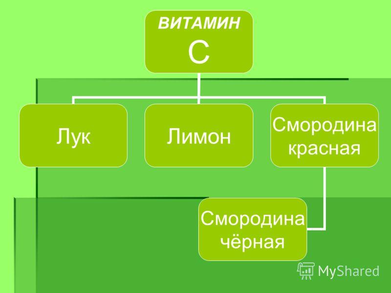 ВИТАМИН С ЛукЛимон Смородина красная Смородина чёрная