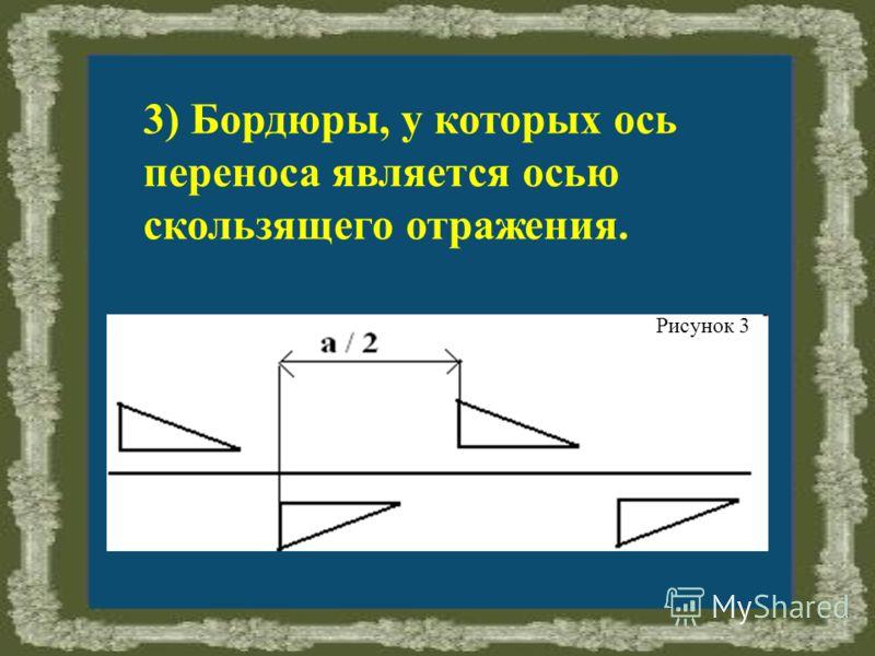3) Бордюры, у которых ось переноса является осью скользящего отражения. Рисунок 3