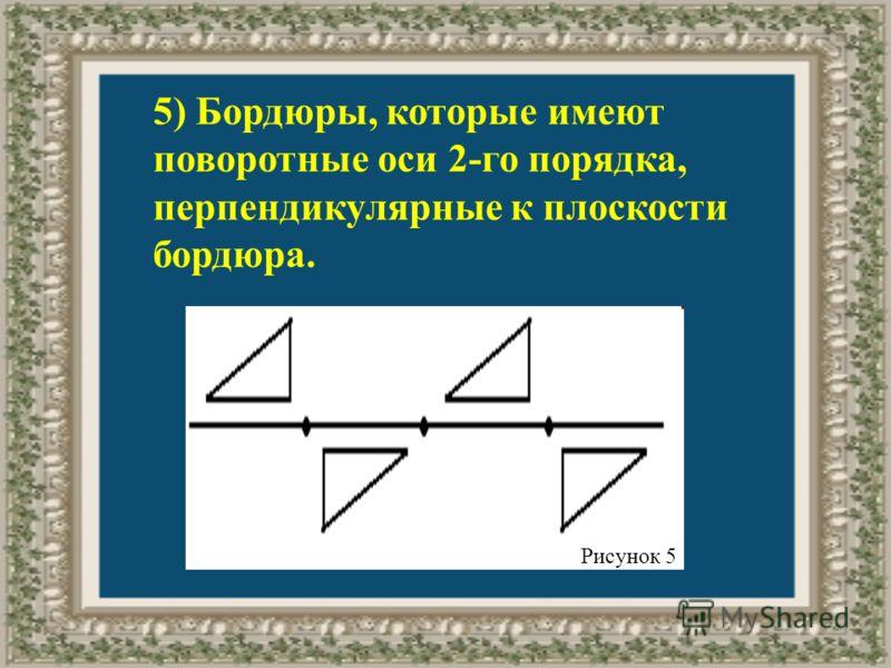 5) Бордюры, которые имеют поворотные оси 2-го порядка, перпендикулярные к плоскости бордюра. Рисунок 5