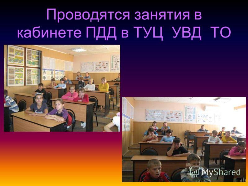 Проводятся занятия в кабинете ПДД в ТУЦ УВД ТО