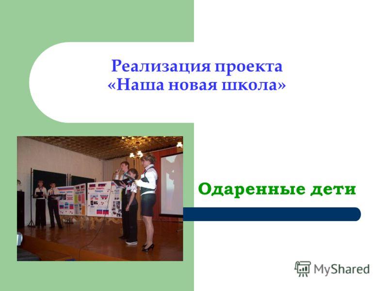 Реализация проекта «Наша новая школа» Одаренные дети
