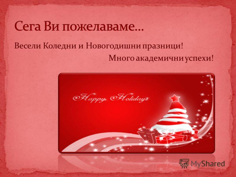 Весели Коледни и Новогодишни празници! Много академични успехи!