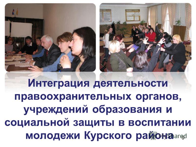 Интеграция деятельности правоохранительных органов, учреждений образования и социальной защиты в воспитании молодежи Курского района 9