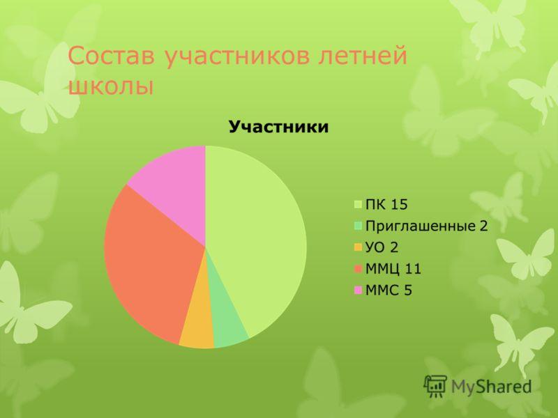 Состав участников летней школы