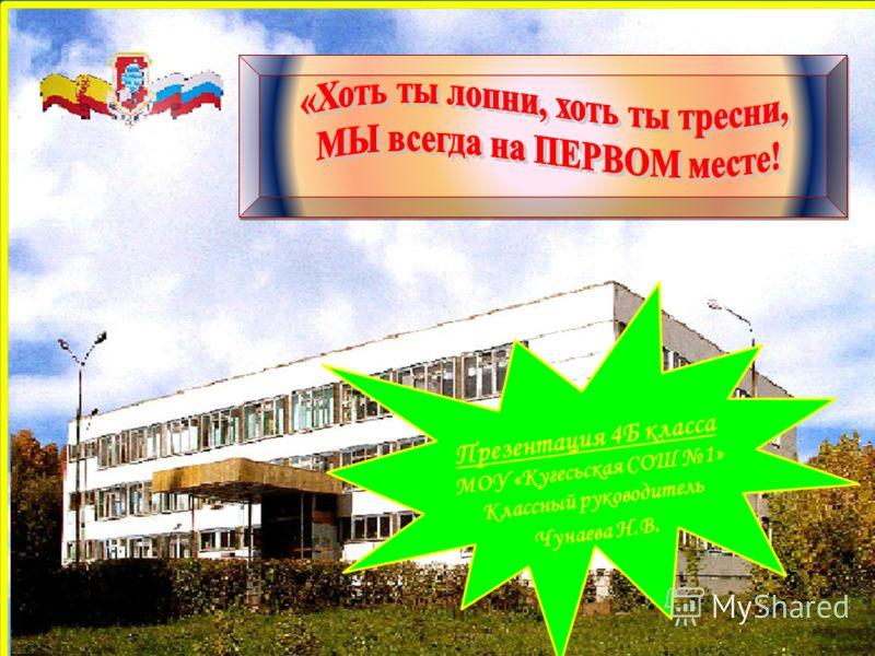 Презентация 4Б класса МОУ «Кугесьская СОШ 1» Классный руководитель Чунаева Н.В.