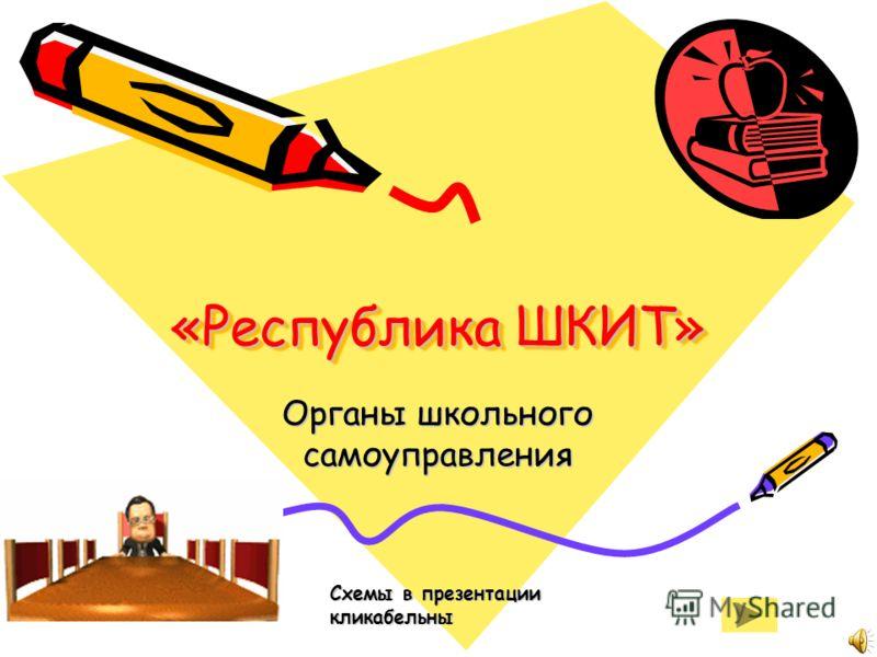 «Республика ШКИТ» Органы школьного самоуправления Схемы в презентации кликабельны