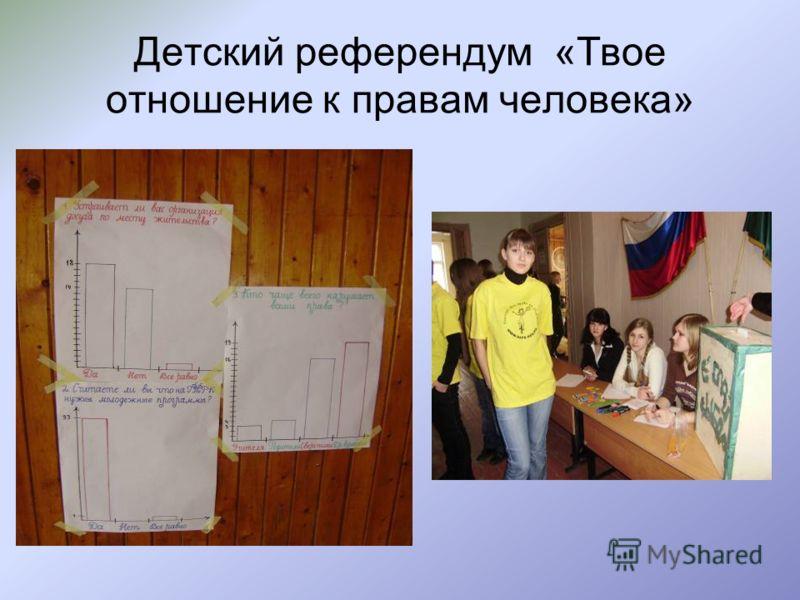 Детский референдум «Твое отношение к правам человека»