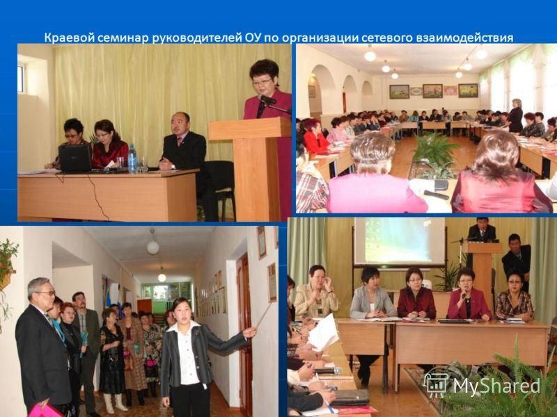 Краевой семинар руководителей ОУ по организации сетевого взаимодействия