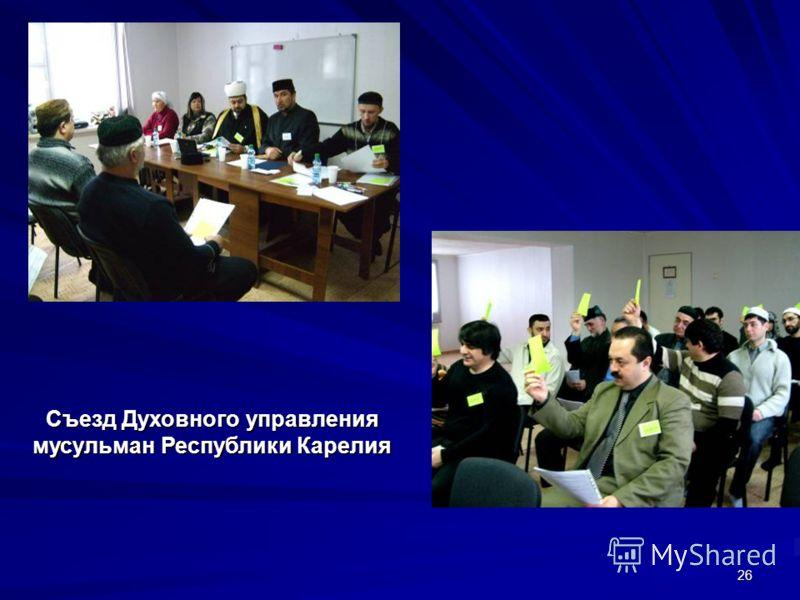 26 Съезд Духовного управления мусульман Республики Карелия