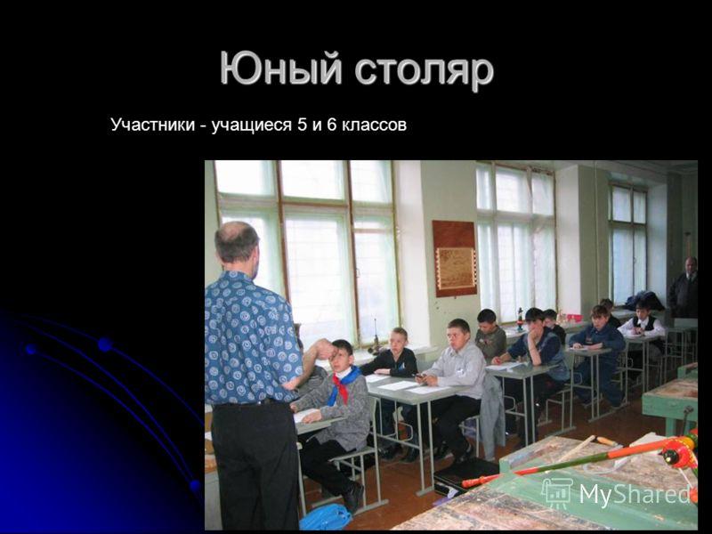 Юный столяр Участники - учащиеся 5 и 6 классов