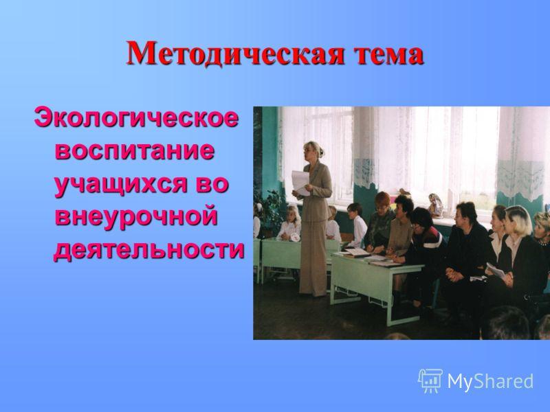 Научно – методическая деятельность 2006-2007 г.2006-2007 г. руководитель ШМО классных руководителей