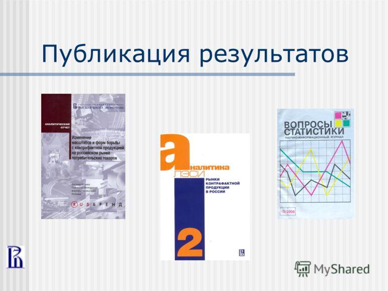 Публикация результатов
