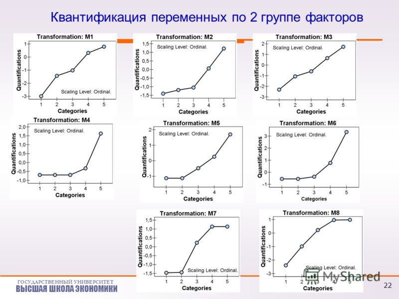 ГОСУДАРСТВЕННЫЙ УНИВЕРСИТЕТ ВЫСШАЯ ШКОЛА ЭКОНОМИКИ Квантификация переменных по 2 группе факторов 22
