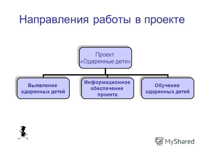 Направления работы в проекте