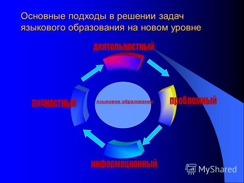Основные подходы в решении задач языкового образования на новом уровне