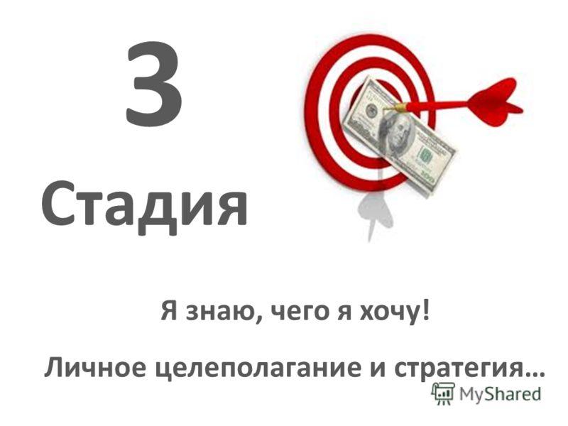 Я знаю, чего я хочу! Личное целеполагание и стратегия… 3 Стадия